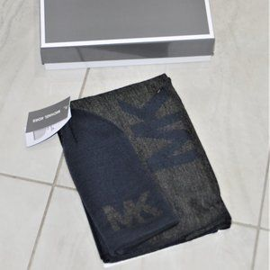 NWT $90 MICHAEL KORS MEN'S Beanie Hat & Scarf Set